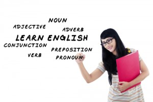 英文法を勉強している様子