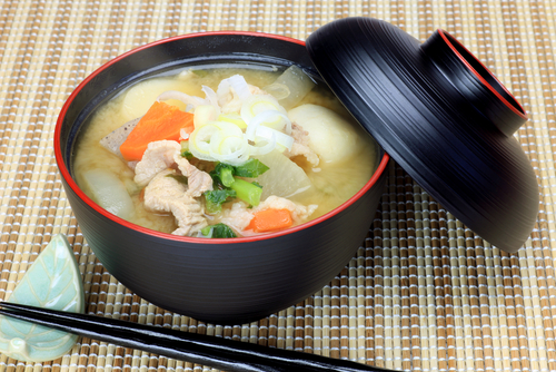 miso soup with pork